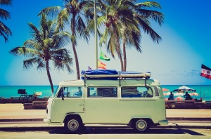 Beach Day In Vintage VW Bus